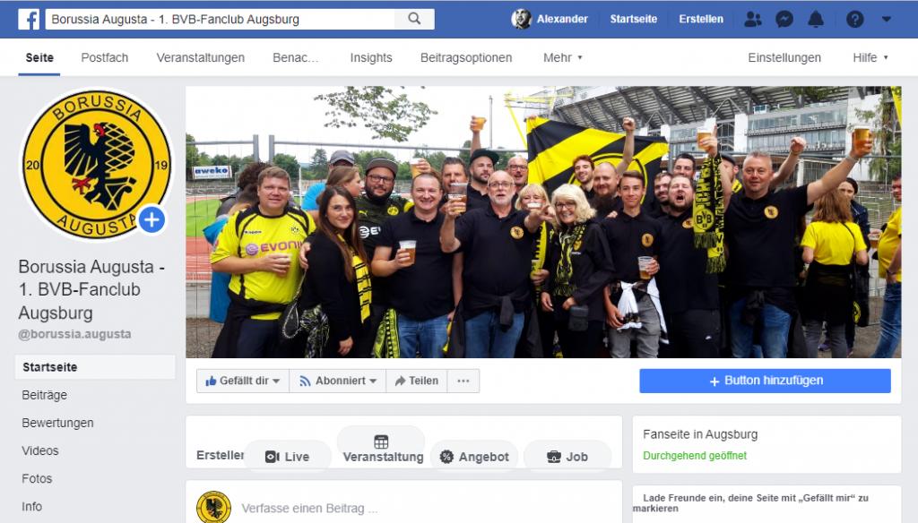 Borussia Augusta Facebook Fanpage